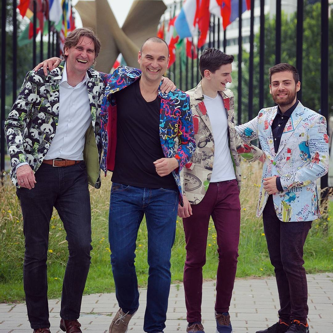 panda, artist, scooter and traveler blazers