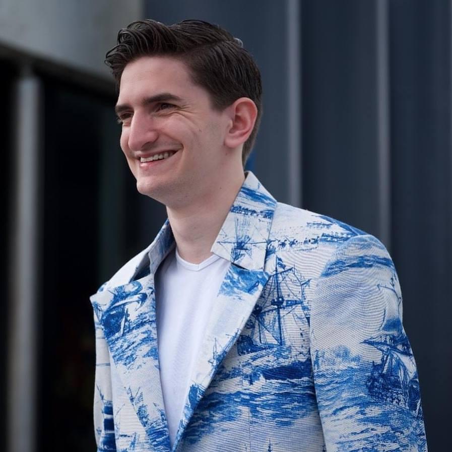 Fogini - Delft Blue blazer